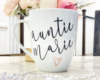 Personalized Auntie Mug, Pregnancy Announcement ideas, Auntie Coffee Mug, Aunt Gift, Promoted to Aunt, Baby announcement, Auntie to be Gift