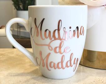 Madrina Personalized Beer Mug Baptism Gift Set Custom Madrina Beer Mug God Mother Gift Beer Mug Madrina Proposal Nina Proposal