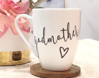 Godmother Mug, Custom Coffee Mug, Best Friend Gift, Godmother Gift, Godmother Proposal, Will You Be My Godmother, Madrina, Will You Be My