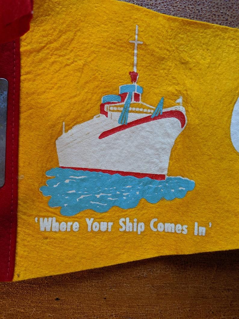 Vintage Felt Gulfport Louisiana Souvenir Pennant
