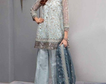 bfd0e65866 Beautifully Embroidered Organza Maria B 3 Piece Suit Available, Will Be  Made To Order. Pakistani Dresses, Maria B Eid Suit.