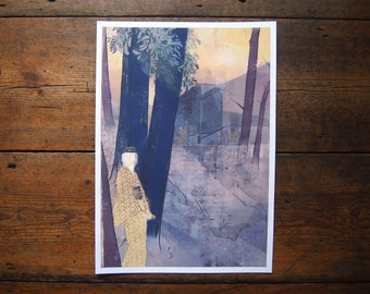 An Evening in Assisi Print