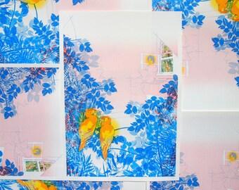 Bedroom Jungle, Risograph Print, Nature Illustration, Folklore Art