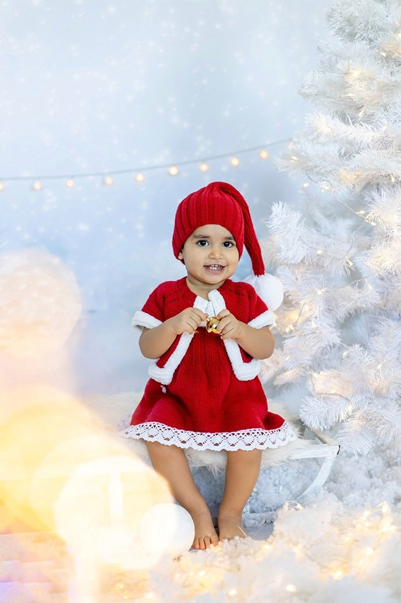 photography props Baby christmas outfit baby santa hat toddler clothes 18-24 months