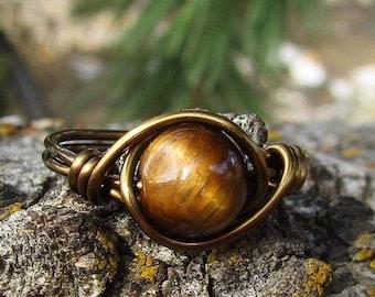 Oval Tiger Eye Ring Handmade Silver Ring 925 Solid Silver Ring Statement Ring Summer Boho Silver Ring Power Stone Ring Tiger Eye Ring
