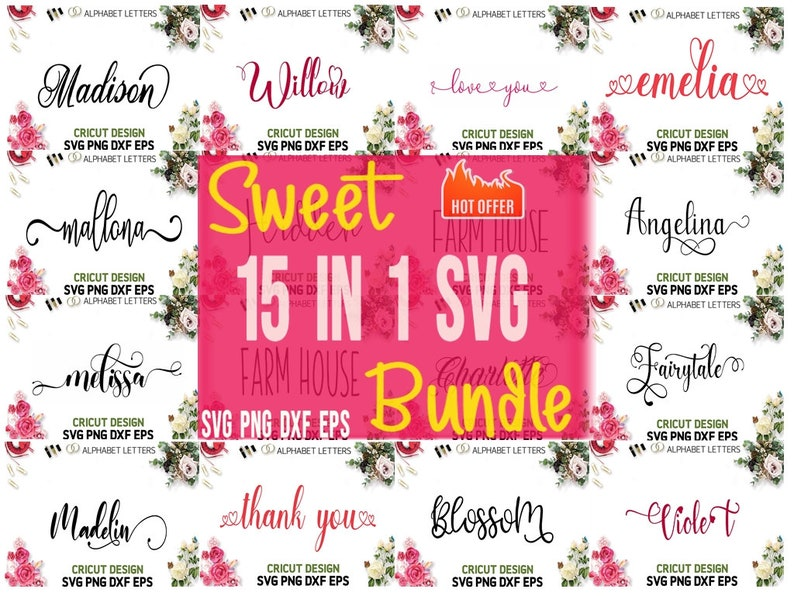 Download Font Bundle Svg Svg fonts For Cricut Cursive font svg | Etsy