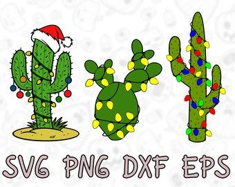 Christmas Cactus Clipart.Christmas Cactus Svg Etsy