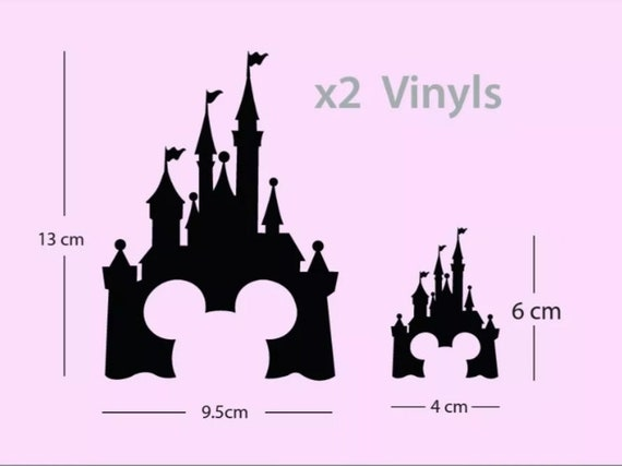 2x Cinderella Castle Mickey Mouse Ears light switch vinyl Decal sticker Disney