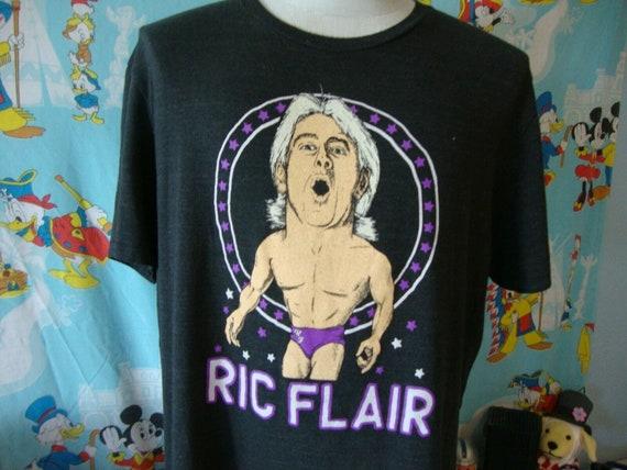 Ric Flair Wrestling Homage Retro Caricature T Shir