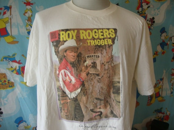 Vintage 90's Roy Rogers And Trigger Cowboy 1993 T