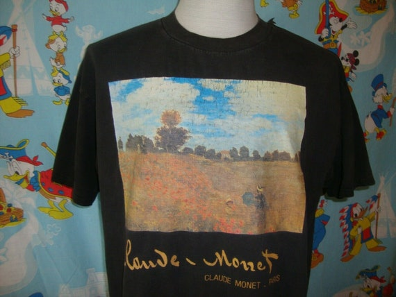 Vintage 90's Claude Monet Paris Art T Shirt XL