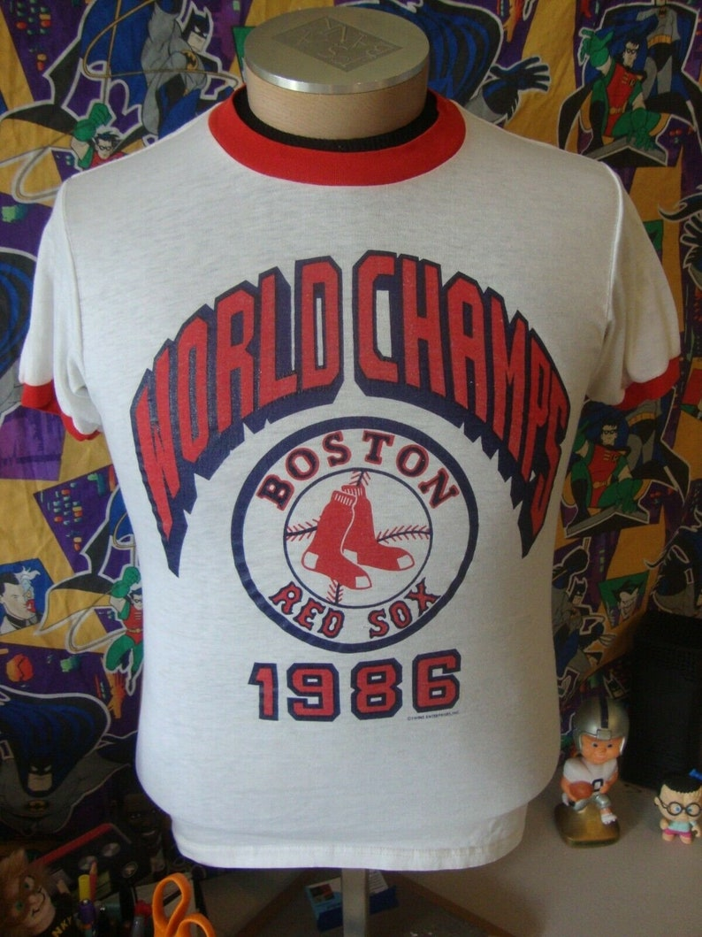 Vintage 80/'s Boston Red Sox 1986 World Champs T Shirt S