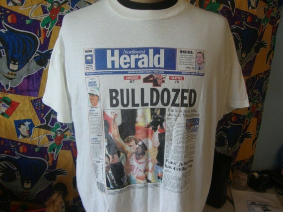 Vintage 90's Chicago Bulls 1996 NBA Finals Newspap
