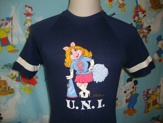 Vtg University of Northern Iowa Miss Piggy Muppets