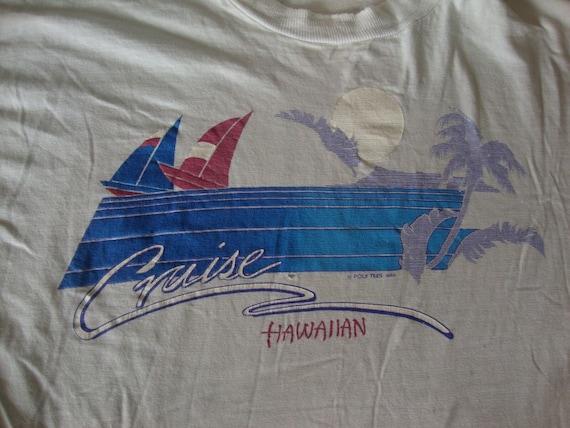 Vintage POLY TEES HAWAII Sailboat Cruise Hawaiian