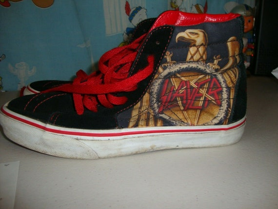 Vintage Slayer Vans Skate Hi Top Shoes Mens 7 Wome