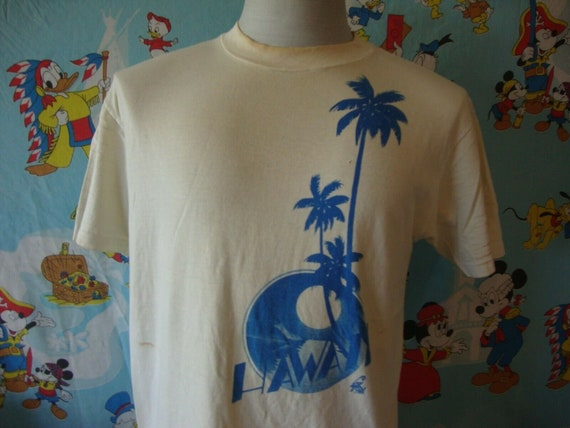 Vintage 80's Poly Tees Hawaii Parrot Tourist T Shi