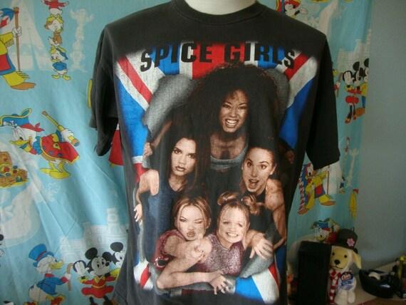 Vintage 90's Spice Girls Original Concert Tour T S