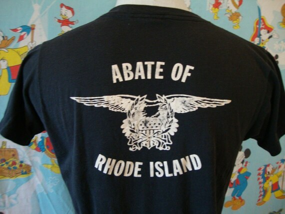 Vintage 80's Abate Of Rhode Island Motorcycle Ass… - image 3