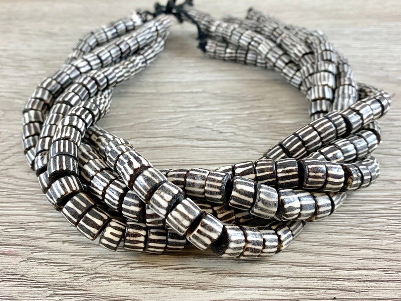 Brown Bone Beads From Africa