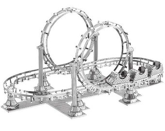 3D Metal Puzzle,Assembly Model ROLLER COASTER,Assembly Kit, Puzzle