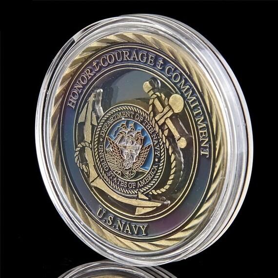 WAMZD Souvenir Coin United States Army Silberm/ünzen America Navy Emblem Gedenkmedaille Souvenir Geschenke Drop Shipping