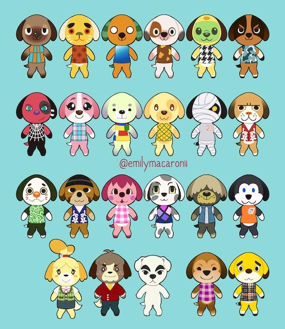 Shep Animal Crossing Dog Stickers New Horizons New Leaf Etsy