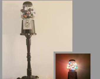 Upcycled Gumball Machine Floor Lamp