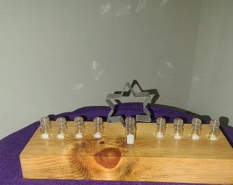 Upcycled Candle Menorah