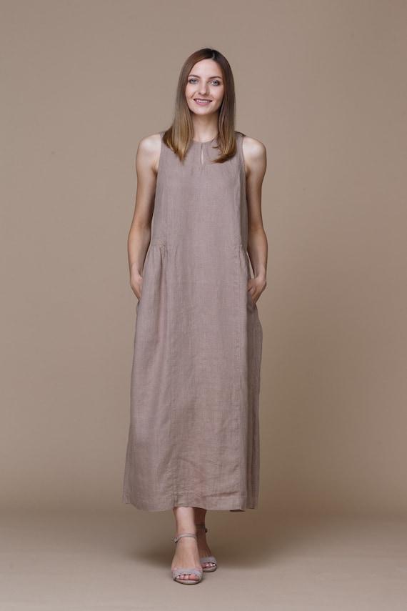 Linen dress. Summer dress. Linen clothing for women. Eco dress. Natural clothes.