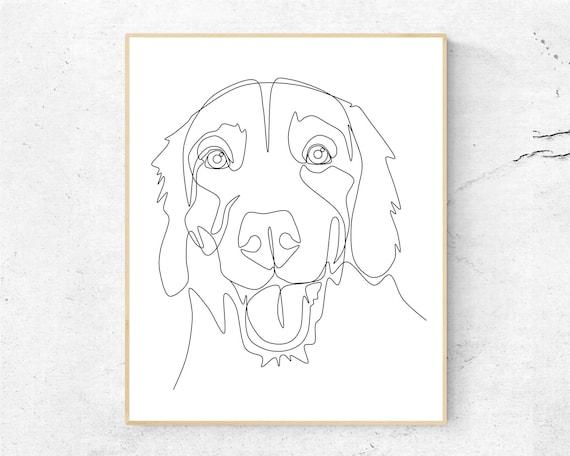 Line Drawing Custom Pet Portrait