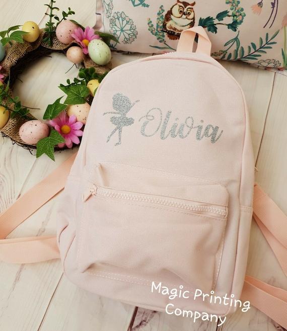 Personalised Ballet Bag girls mini Back pack Tap Jazz shoes Holdall ballerina