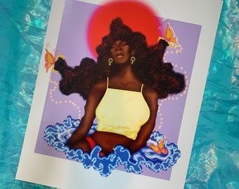 Black girl digital painting