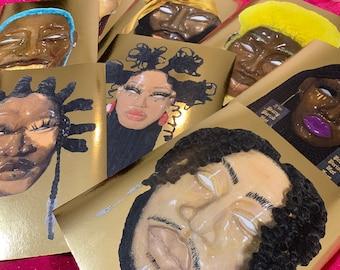 Mask series collage prints