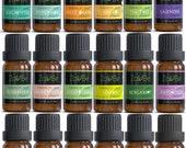 18 Essential Oil Set Diffuser Aromatherapy 100 Therapeutic Grade Lavender Peppermint Tea Tree Frankincense Oregano