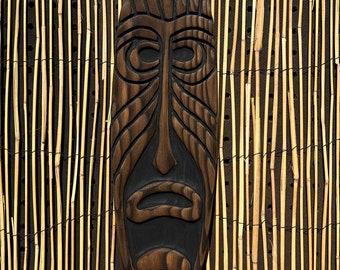 Tiki Wall Art (small) - Wood Carving