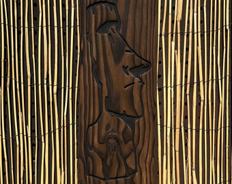 Sexy Moai - Wood Carving