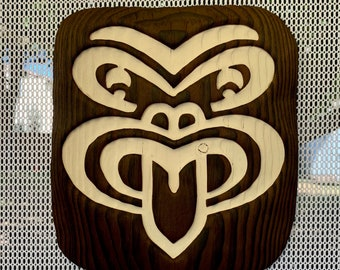 Tiki Wall Art - Wood Carving