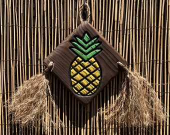 Pineapple Wall Art - Wood Carving