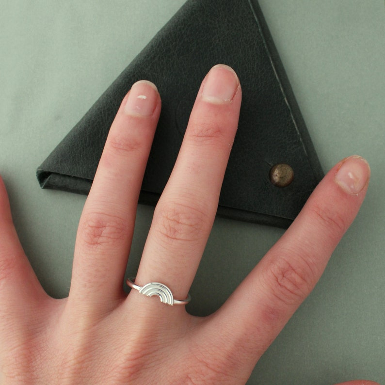 Stacking Rings SetBlack Gemstone Rings SetEternity Silver RingCircle Stackable Rings Set2 Rings Set