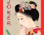 Mah Jongg Accessories Joker Stickers Geisha