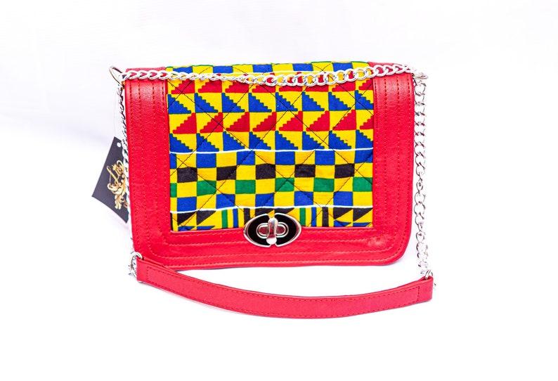 Beautiful \u201cMorowa\u201d Multicolor Ghana Prints Bag With a Matching slideAnkara Tote BagAnkara Purse