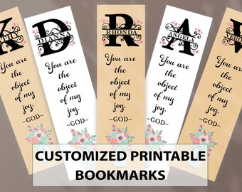 PRINTABLE Personalized Bookmarks | Digital Custom Text Bookmark | Book Lover Gift | Encouragement Bookmarks