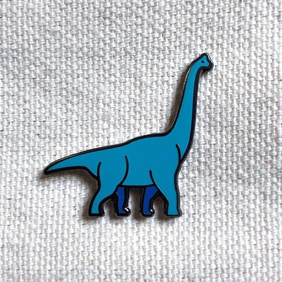 Blue Brontosaurus Dinosaur Enamel Pin