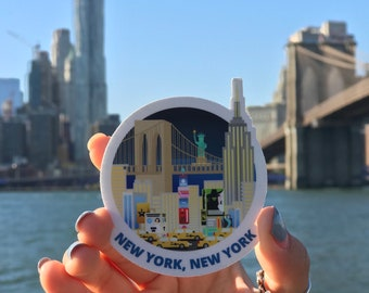 New York, New York  Vinyl Sticker