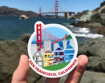 """San Francisco - 2.73"""" x 3"""" Vinyl Sticker"""