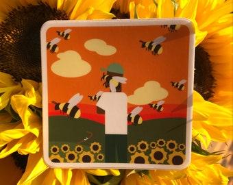 "Tyler, the Creator - Flower Boy Vinyl Sticker  3"" x 3"""