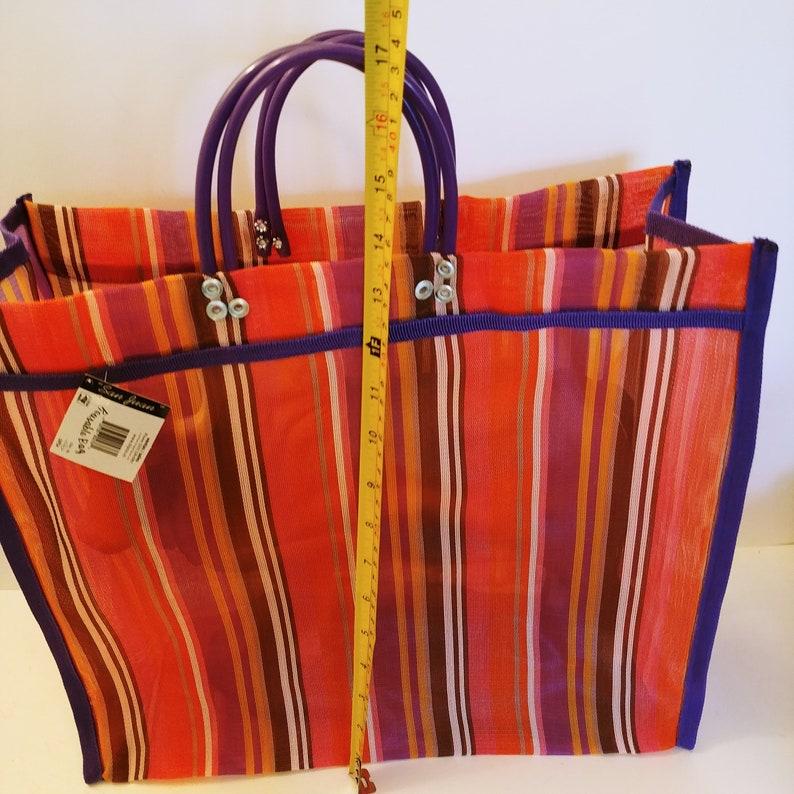 Shopping Mesh Bag Market Mesh Large Reusable Beach Tote Mercado Mexican Bag