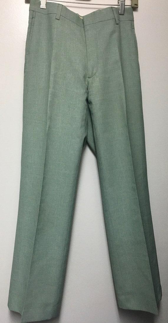 Vintage 1970s men's mint green suit 36R - image 3