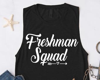 Sophomore Squad Tank Top Funny Workout Cute Gift Tee T-shirt Tshirt Womens Crew Teacher High School 10th